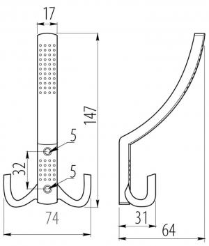 Крючок W001